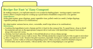 Recipe for Fast 'n' Easy Compost